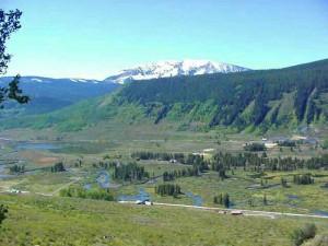 Slate river valley below