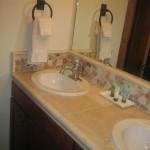 Guest bath dbl vanities