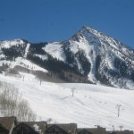 Ski area view from unit