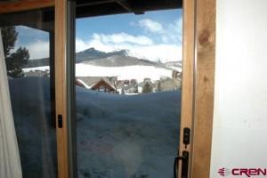 View from deck slider door