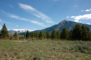 View of Mt. CB from upper pasture II