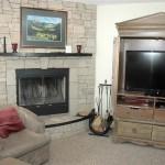 Entertainment fireplace